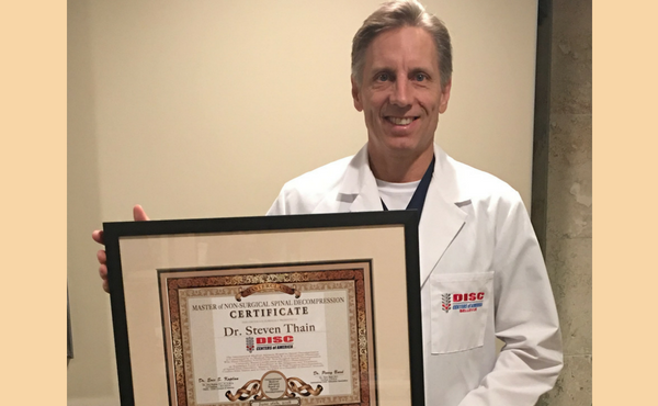 Dr. Thain DC Continues Education in the Advancement of Treating Disc Related Conditions
